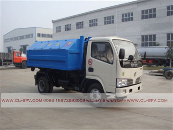 Dongfeng 4000 liters hook arm garbage truck05