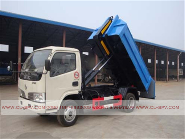 Dongfeng 4000 liters hook arm garbage truck06