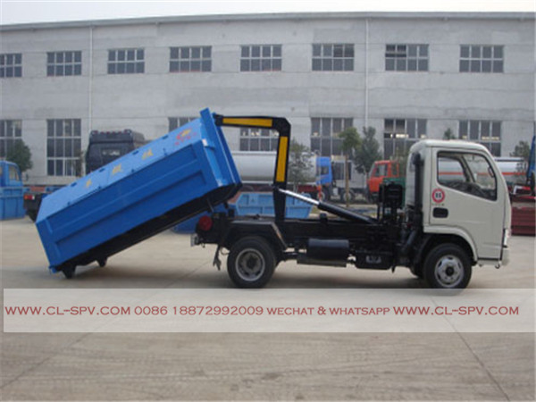 Dongfeng 4000 liters hook arm garbage truck08