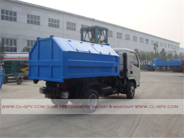 Dongfeng 4000 liters hook arm garbage truck10