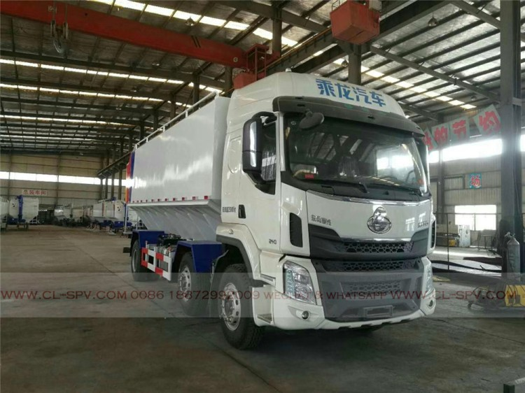 Dongfeng bulk powder feed transport vehicle 06