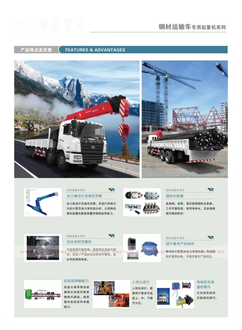 CAMC TRUCK WITH DIFFERENT CRANES 08