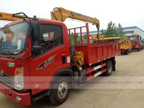 China different trucks with brand cranes75