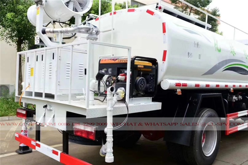 Dongfeng pesticide spraying truck with 30 meters fog cannon 09