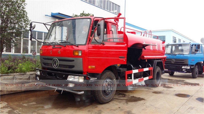 Dongfeng 145 red color fire fighting truck 01