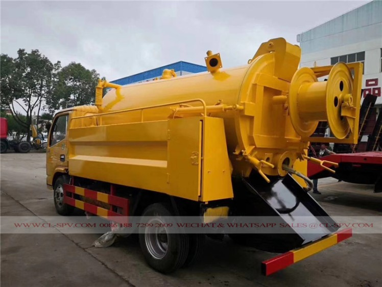 Dongfeng sewage suction and cleaning truck 02