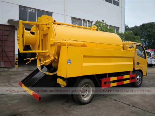 Dongfeng sewage suction and cleaning truck 06