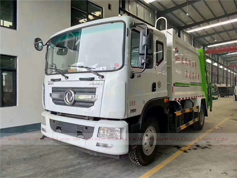 Dongfeng D9 10 cbm garbage compactor truck 01