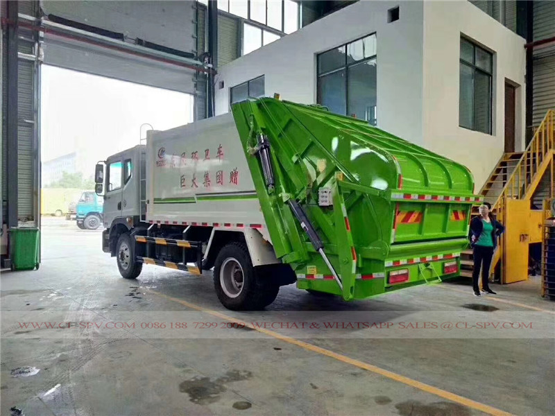 Dongfeng D9 10 cbm garbage compactor truck 03