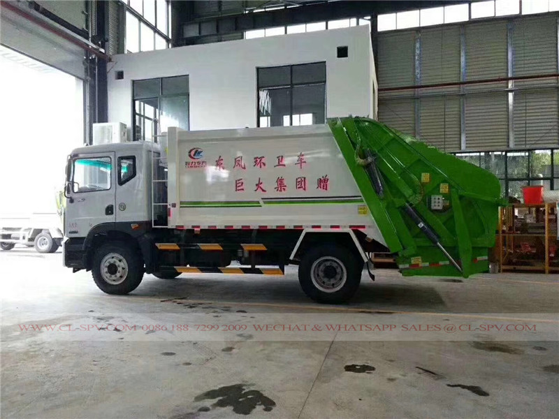 Dongfeng D9 10 cbm garbage compactor truck 04