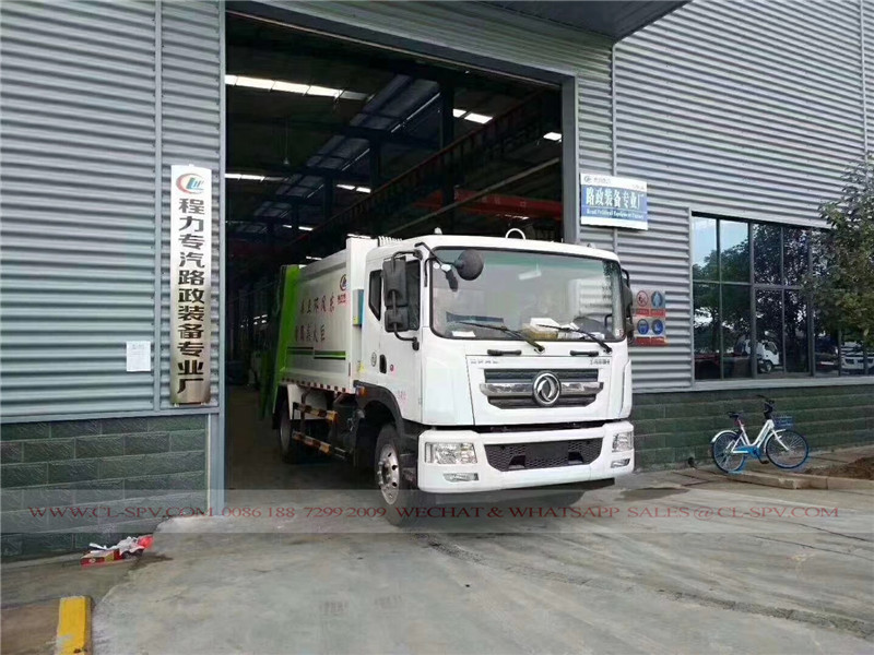 Dongfeng D9 10 cbm garbage compactor truck 08