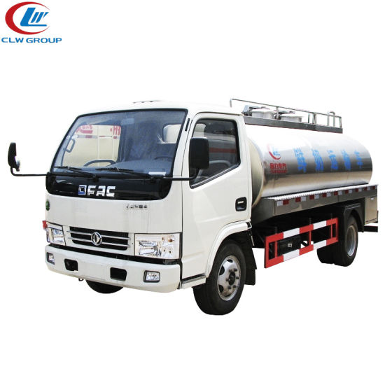 44931eb941 Dongfeng Food Class Stainless Steel Fresh Milk Transportation Truck – China  tanker truck manufacturer