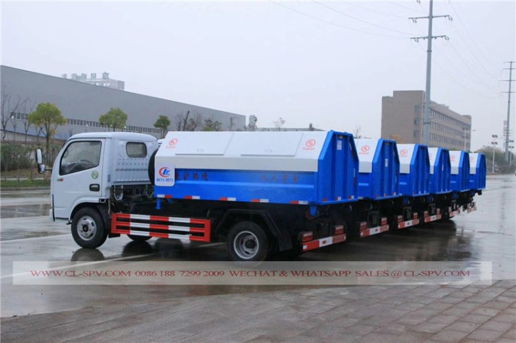 Dongfeng hook arm garbage truck 01