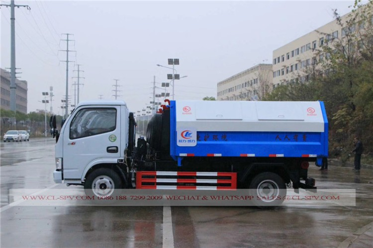 Dongfeng hook arm garbage truck 03