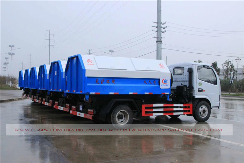 Dongfeng hook arm garbage truck 06