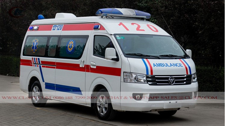 New Foton RHD Petrol ICU Transit Medical Ambulance car (6)