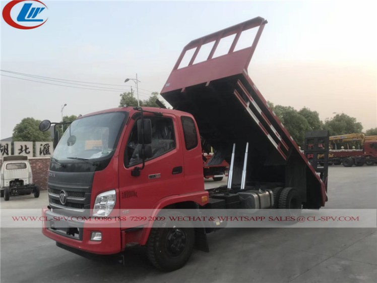 Flat bed truck with dump function 01