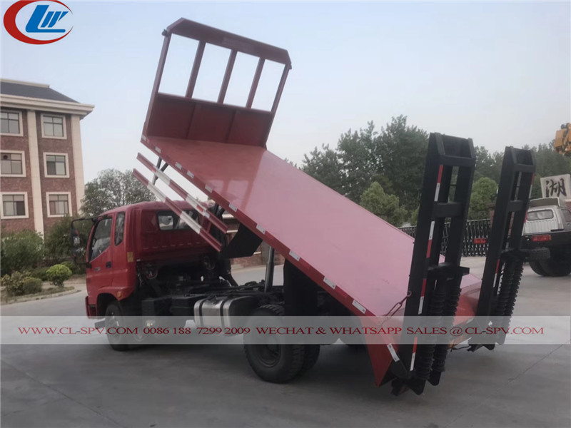 Flat bed truck with dump function 02