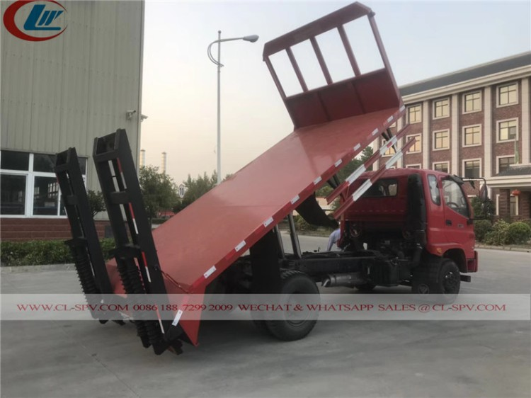 Flat bed truck with dump function 03