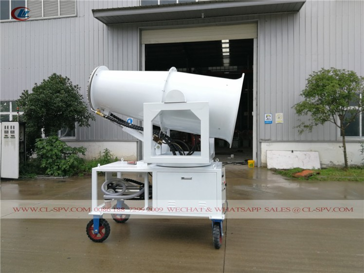 60 meters water mist cannon with 4 wheels 04