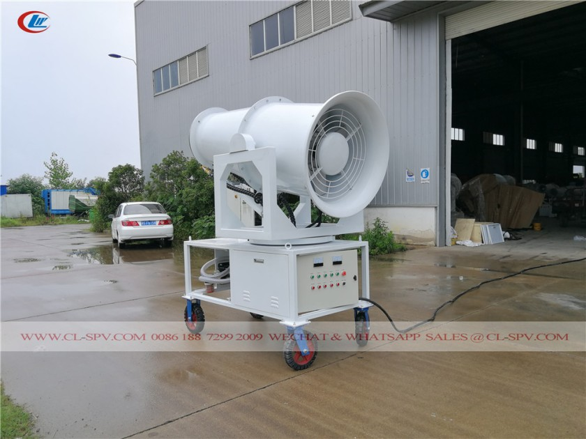 60 meters water mist cannon with 4 wheels 05