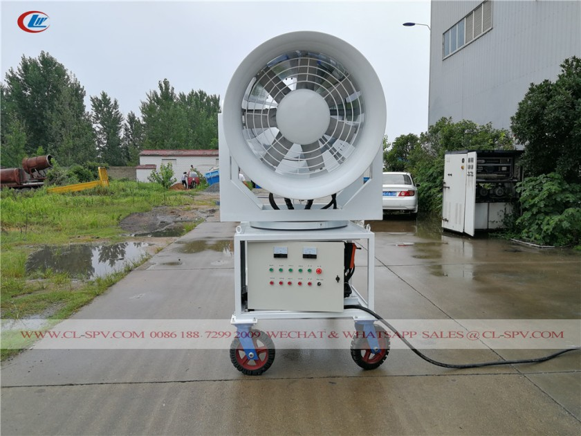 60 meters water mist cannon with 4 wheels 06