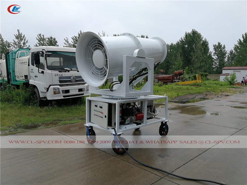 60 meters water mist cannon with 4 wheels 07