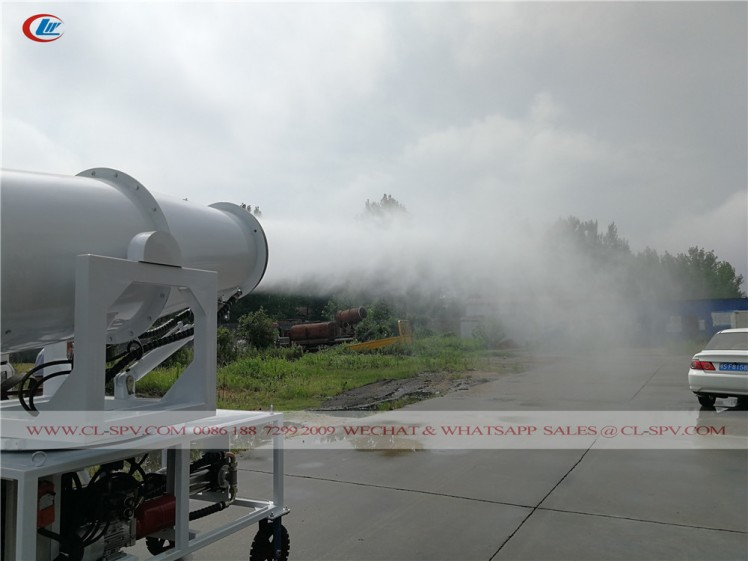 60 meters water mist cannon with 4 wheels 10