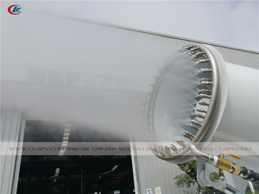 60 meters water mist cannon with 4 wheels 11