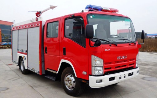 Isuzu 700P fire fighting truck