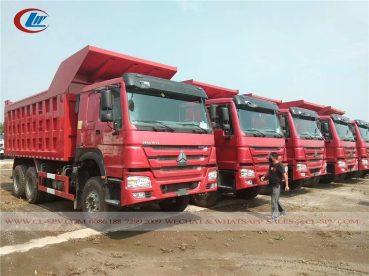 Howo 336 horse power tipper truck 03