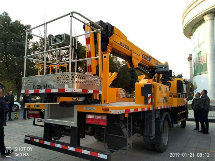 Dongfeng telescopic boom aerial platform truck